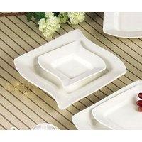 CAC SOH-120 Soho 24 oz. American White (Ivory / Eggshell) Stoneware Pasta Bowl - 12 / Case
