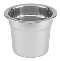 Vollrath 46104 Stainless Steel Inset for 46095 2.5 Qt. New York, New York Gravy / Sauce Chafer
