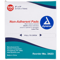 Medique 64233 Medi-First 2 inch x 3 inch Non-Adherent Absorbent Sterile Pad - 100 / Box