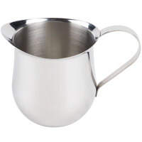 Tablecraft 2312 12 oz. Stainless Steel Bell Creamer