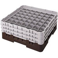 Cambro 49S1114167 Brown Camrack 49 Compartment 11 3/4 inch Glass Rack