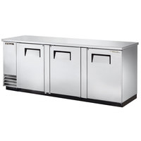 True TBB-4-S 90 inch Stainless Steel Back Bar Refrigerator