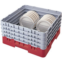 Cambro CRP141012163 Red Full Size PlateSafe Camrack 10 1/2-12 1/2 inch