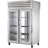True STA2RPT-2G-2G Specification Series Pass-Through Glass Door Refrigerator - 56 Cu. Ft.