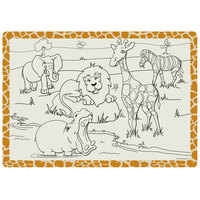 Hoffmaster 310690 10 inch x 14 inch Kids Jungle Fun Design Placemat - 1000 / Case