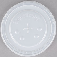 Dart Solo L44BN-0100 32-44 oz. Translucent Plastic Lid with Straw Slot and Identification Buttons - 960/Case