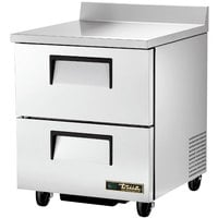 True TWT-27D-2-HC 27 inch Deep Work Top Refrigerator with Two Drawers