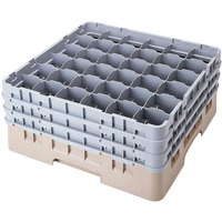 Cambro 36S638184 Beige Camrack 36 Compartment 6 7/8 inch Glass Rack