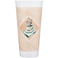 Dart 24X16G 24 oz. Customizable Espresso Foam Cup - 500/Case