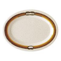 GET OP-950-RD 9 3/4 inch x 7 1/4 inch Diamond Rodeo Oval Platter - 24/Case
