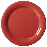 GET NP-10-CR Cranberry Diamond Harvest 10 1/2 inch Rolled Edge Plate - 12/Case