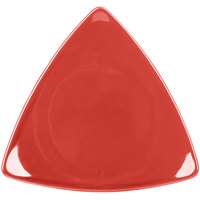 CAC TRG-23RED Festiware Triangle Flat Plate 12 1/2 inch - Red - 12/Case