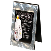 Menu Solutions MTDBL-411 Two View Swirl Aluminum Menu Tent with Picture Corners - 4 1/4 inch x 11 inch