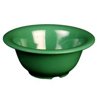 Green 10 oz. 5 3/8 inch Diameter Melamine Soup Bowl 12 / Pack