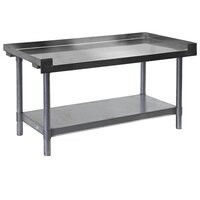 APW Wyott HDS-60C 60 inch x 30 inch Heavy Duty Cookline Equipment Stand with Galvanized Undershelf and Casters