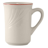 Tuxton YBM-080 Monterey 8 oz. China Mug with Berry Band - 36/Case