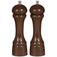Chef Specialties 08102 Professional Series 8 inch Customizable Windsor Walnut Pepper Mill and Salt Mill Set