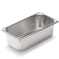 Vollrath Super Pan V 30342 1/3 Size Anti-Jam Stainless Steel Steam Table / Hotel Pan - 4 inch Deep