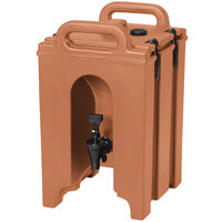 Cambro 100LCD157 Camtainer 1.5 Gallon Tan Insulated Beverage Dispenser