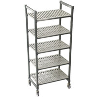 Cambro Camshelving Premium CPMS244267V5480 Mobile Shelving Unit with Standard Casters 24 inch x 42 inch x 67 inch - 5 Shelf