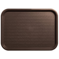 Carlisle CT121669 Customizable Cafe 12 inch x 16 inch Chocolate Standard Plastic Fast Food Tray - 24/Case