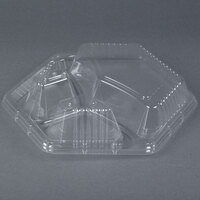 Genpak 94713 Smart-Set Clear Dome Lid for HX013 Foam Tray 200 / Case