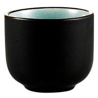 CAC 666-WC-BLU Japanese Style 1.5 oz. China Sake Cup - Lake Water Blue - 72/Case