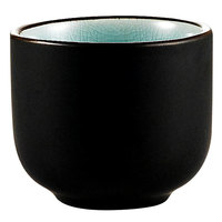 CAC 666-WC-BLU Japanese Style 1.5 oz. China Sake Cup - Lake Water Blue - 72 / Case