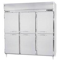 Beverage Air PRF48-241AHS-02 3 Section Half Door Dual Temperature Reach-In - 70 cu. ft., Stainless Steel