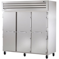 True STR3R-3S Specification Series Three Section Reach In Refrigerator with Solid Doors - 85 Cu. Ft.