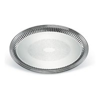 Vollrath 82173 Esquire 21 inch x 15 1/2 inch Oval Fluted Stainless Steel Tray