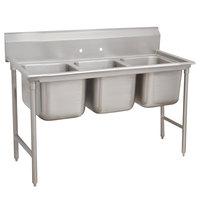 Advance Tabco 9-83-60 Super Saver Three Compartment Pot Sink - 74 inch