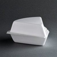 Genpak 21800 6 inch x 5 1/2 inch x 3 inch Foam Pie Wedge Container - 50/Pack