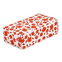 7 1/8 inch x 3 3/8 inch x 1 7/8 inch 1-Piece 1 lb. Leaf Candy Box - 250/Case