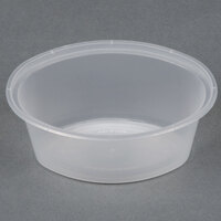 Newspring E1003 ELLIPSO 3 oz. Clear Oval Plastic Souffle / Portion Cup   - 1000/Case