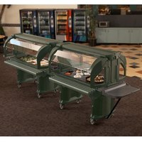 Cambro VBRHD5519 Green 5' Versa Food / Salad Bar with Heavy Duty Casters