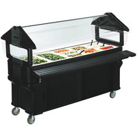 Carlisle 661103 Black 6' Six Star Portable Food / Salad Bar with Storage Base