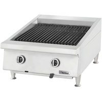Garland GTBG24-AR24 Natural Gas 24 inch Radiant Charbroiler with Adjustable Grates - 72,000 BTU