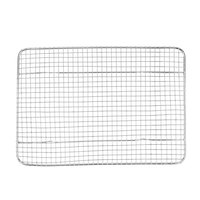 8 1/2 inch x 12 inch One-Fourth Size Footed Draining Grate for Bun / Sheet Pan
