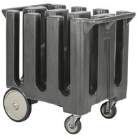 Cambro DC700191 Granite Gray Poker Chip Dish Dolly / Caddy with Vinyl Cover - 6 Column