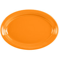 Homer Laughlin 458325 Fiesta Tangerine 13 5/8 inch Platter - 12/Case