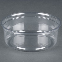 Fabri-Kal Alur RD8 8 oz. Recycled Customizable Clear PET Plastic Round Deli Container 500 / Case