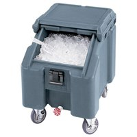 Cambro ICS100L4S401 Slate Blue Sliding Lid Portable Ice Bin - 100 lb. Capacity