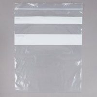 12 inch x 10 inch Standard Weight 1 Gallon Seal Top Bag - 250/Pack