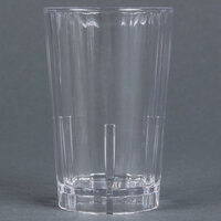 Cambro HT8CW135 Clear Camwear Huntington 8 oz. Customizable Squat Plastic Tumbler - 36 / Case