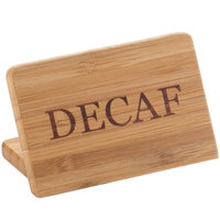 Cal-Mil 606-2 3 inch x 2 inch Bamboo Decaf Beverage Sign