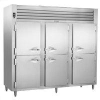 Traulsen RHT332WPUT-HHS Stainless Steel 83.2 Cu. Ft. Half Door Three Section Pass-Through Refrigerator - Specification Line