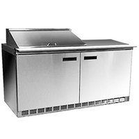 Delfield 4464N-12M 64 inch Mega Top Salad Prep Refrigerator with Two Doors