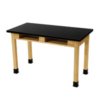 National Public Seating SLT2472-BC 24 inch x 72 inch Science Lab Table with Built-In Book Compartments - 30 inch Height