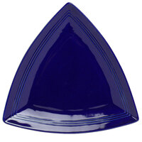 Tuxton CCZ-1248 Concentrix 12 1/2 inch Cobalt Triangle China Plate - 6 / Case